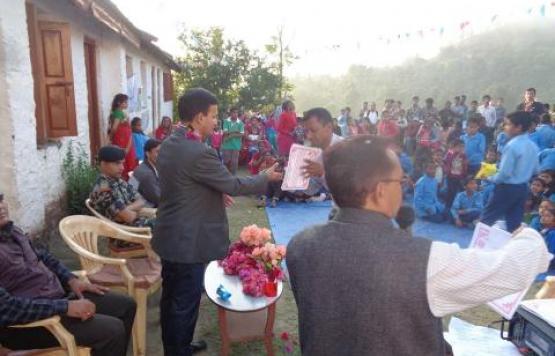 Certificate distribution by CDO Liladhar Adhikari