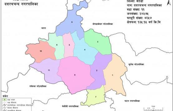Ward Division of Dashrathchand Municipality